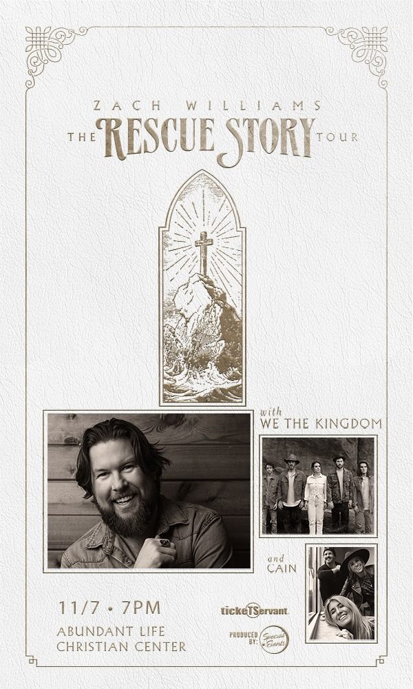 Zach Williams Rescue Story with We The Kingdom and Cain