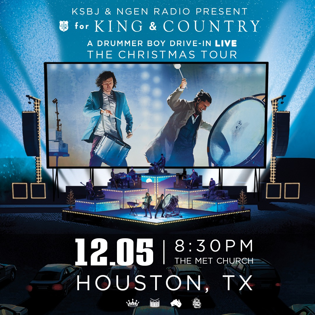 KSBJ & NGEN Radio Present: for KING & COUNTRY's A Drummer Boy Drive-In: The Christmas Tour