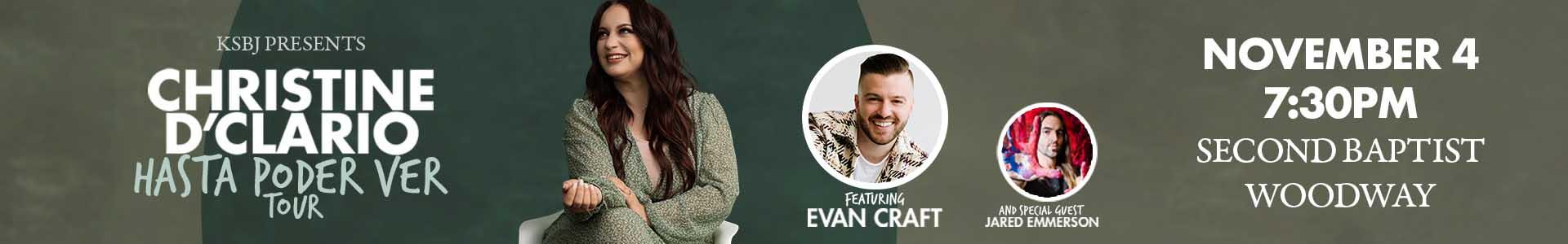 KSBJ Presents Hasta Poder Ver with Christine D'Clario and Evan Craft
